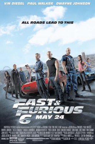 Fast & Furious 6 - Theatrical release poster