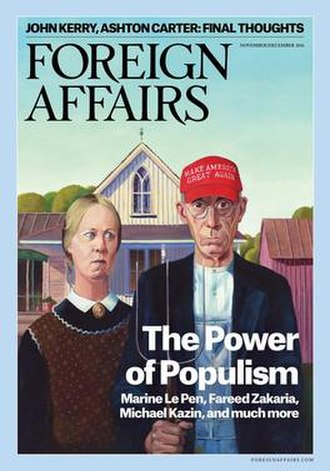Foreign Affairs - Cover of the November/December 2016 issue of Foreign Affairs