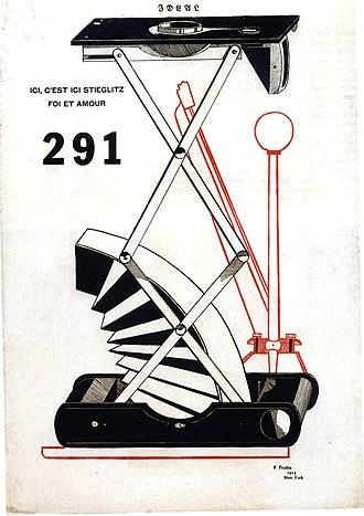 New York Dada - Francis Picabia, Ici, c'est ici Stieglitz, foi et amour, cover of 291, No. 1, 1915