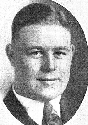 "Fred Rehor - Rehor's senior portrait from the 1917 ""Michiganensian"""