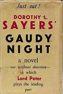 <i>Gaudy Night</i> 1935 mystery novel by Dorothy L. Sayers