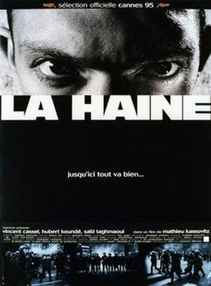 """La Haine - La Haine cover, with the tagline Jusqu'ici tout va bien… (""""So far, so good…"""")"""