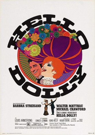 Hello, Dolly! (film) - Original film poster by Richard Amsel