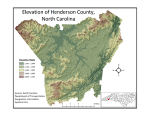 Henderson County, North Carolina - Henderson County Elevation