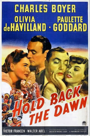 Hold Back the Dawn - 1941 Theatrical poster