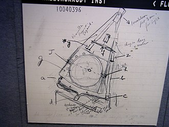 Godfrey Hounsfield - Hounsfield's sketch of the prototype CT scanner