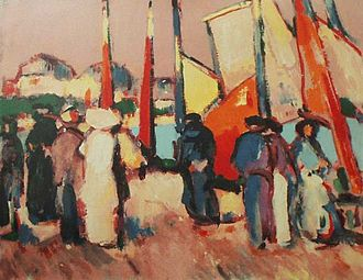 John Duncan Fergusson - Image: JD Fergusson, People and Sails