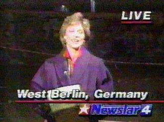 KOMO-TV - KOMO-TV's Kathi Goertzen in a screengrab from a 1989 report on the Berlin Wall takedown.