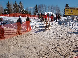 Kearney, Ontario - Dog Sled Races on Main Street (Feb, 2006)
