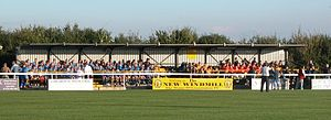 Leamington F.C. - Junior teams gather at the New Windmill Ground's old Sheepside Stand, for a photo session