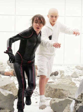 Leech (comics) - Kitty Pryde rescuing Leech as seen in X-Men: The Last Stand.