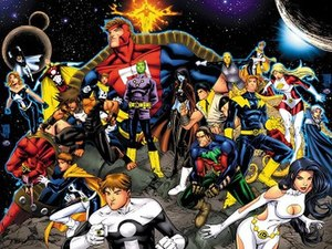 Legion of Super-Heroes (2004 team) - Image: Legion of Super Heroes (Threeboot version)