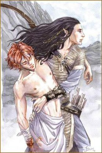 Maedhros - Jenny Dolfen's portrayal of Fingon rescuing Maedhros from Thangorodrim