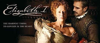 Elizabeth I (2005 miniseries) - Title screen with Helen Mirren and Jeremy Irons