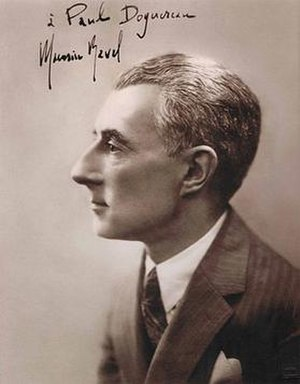 Maurice Ravel photograph inscribed to Paul Dog...
