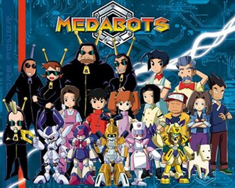Medabots - Promotional image showing main characters