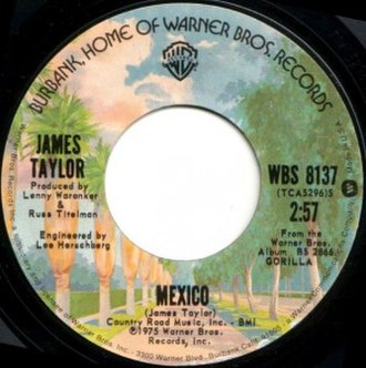 Mexico (James Taylor song) - Image: Mexico single label