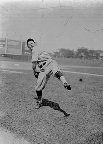 Mike Prendergast (baseball) - Mike Prendergast Pitching, 1917