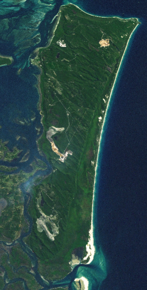 North Stradbroke Island - NASA World Wind Landsat montage