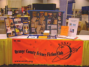 Orange County Science Fiction Club - OCSFC information table at 2006 Worldcon
