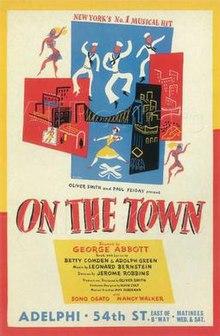 On the Town musical poster Adelphi Theatre 1944 or 1945.jpg
