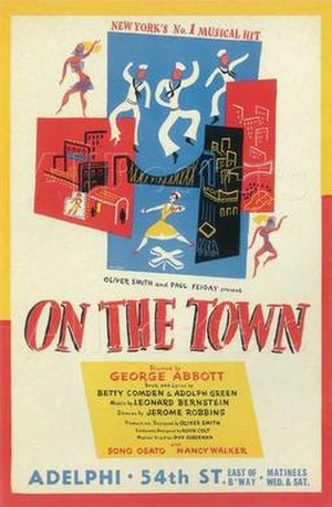 On the Town (musical) - Theatrical release poster (c. 1945)