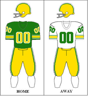 1974 Oregon Webfoots football team - Image: Pac 8 Uniform UO 1974 1976