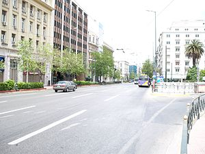 Panepistimiou Street - Panepistimiou street facing towards Omonoia square