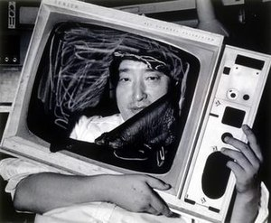 Nam June Paik - Nam June Paik in New York City, 1983. Photo by Lim Young-kyun