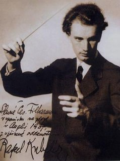 Rafael Kubelík Czech conductor, violinist, composer and director conductor of Czech philharmony