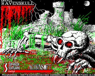 Ravenskull (video game) - Ravenskull loading screen  (BBC Micro)