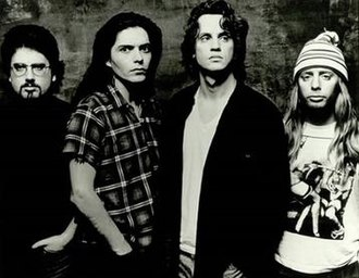 Red House Painters - Red House Painters in 1993. From left to right: Gorden Mack, Jerry Vessel, Mark Kozelek, Anthony Koutsos