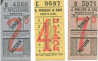 Rhosllannerchrugog - Tickets from local bus services