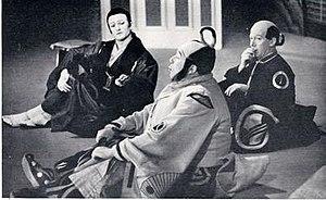 Peter Pratt - Jeffrey Skitch (l) with Fisher Morgan and Pratt (r) in The Mikado