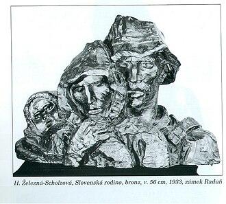 Helen Zelezny-Scholz - Slovak Family, bronze, 1933