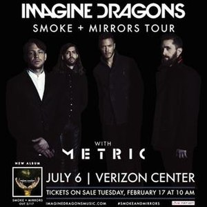 Smoke + Mirrors Tour - Promotional poster for the tour