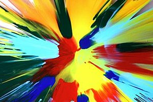 Annick Gendron -  Spin painting, oil on Plexiglas by Annick Gendron (1969)