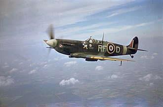 Supermarine Spitfire (early Merlin-powered variants) - Polish Spitfire VB from 303 (Polish) Squadron flown by S/Ldr Zumbach.