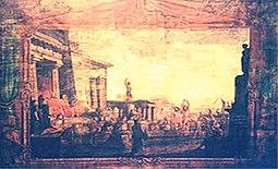 Stage curtain of San Giacomo