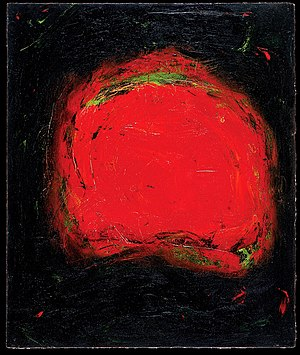 Synesthesia in art - Vision by Carol Steen; Oil on Paper; 15 x 12-3/4 inches; 1996
