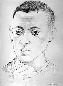 Stephen Greene, Self Portrait, 1945, Graphite on paper.jpg