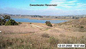 Sweetwater Dam - View of Sweetwater Reservoir