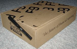 F9 Financial Reporting - F9 Shipping Box and Promotional Pen