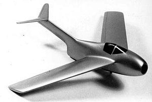 Hans Multhopp - A wind tunnel model of the Ta 183