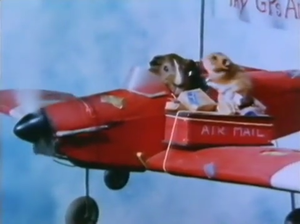 Tales of the Riverbank - Hammy the Hamster and G.P. the Guinea Pig during the episode Hammy the Flying Postman