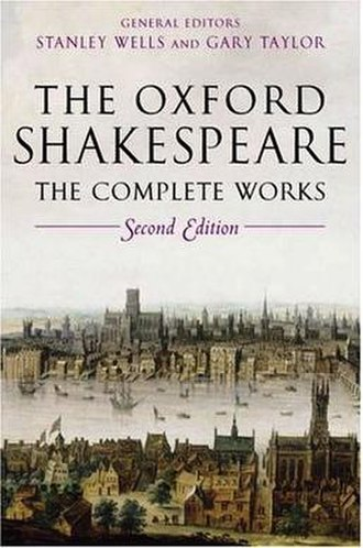 The Oxford Shakespeare - Cover of the 2nd edition of the complete works