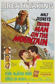 <i>Third Man on the Mountain</i> 1959 film directed by Ken Annakin