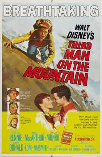 Third Man on the Mountain - Theatrical release poster