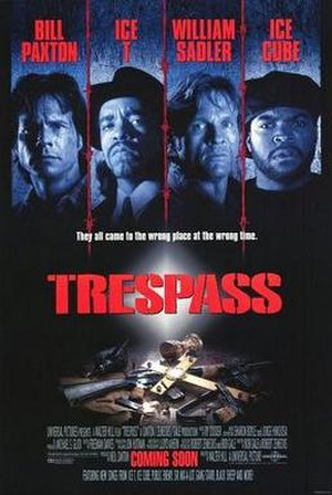 Trespass (1992 film) - Theatrical poster