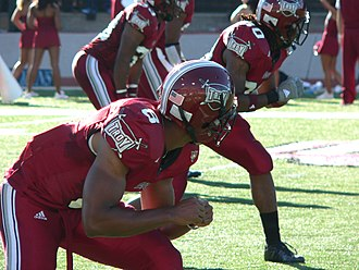 Troy Trojans - Troy Trojans football player Gary Banks during a game in October 2007
